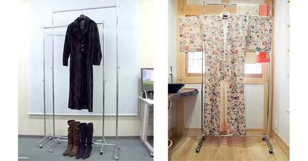 高さ調整は簡単&自由自在!コートや着物など丈の長い衣類も掛けられるタフグランのハンガーラック